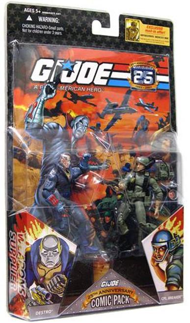 GI Joe 25th Anniversary Wave 2 Comic Pack Breaker & Destro Action Figure 2-Pack