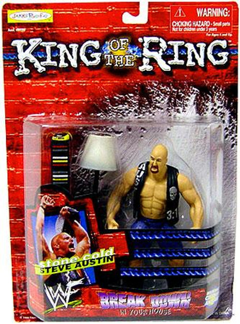 WWE Wrestling WWF King of the Ring Breakdown in Your House Stone Cold Steve Austin Action Figure