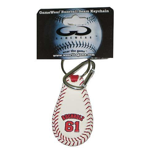 MLB Boston Red Sox GameWear Clay Bucholz Keychain #61