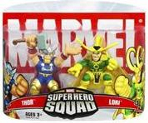 Marvel Super Hero Squad Series 5 Thor & Loki Action Figure 2-Pack