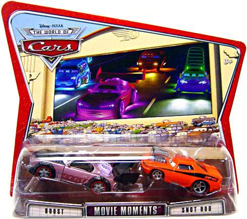 Disney Cars The World of Cars Movie Moments Boost & Snot Rod Diecast Car 2-Pack