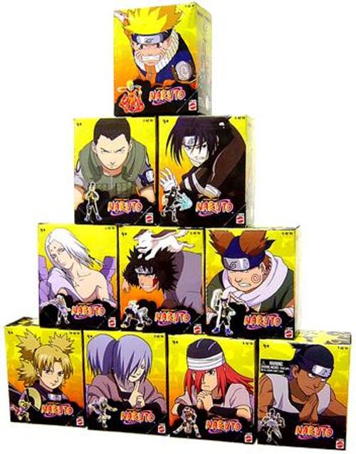 Naruto Set of 10 Tree Diorama Series 1 3-Inch PVC Figures