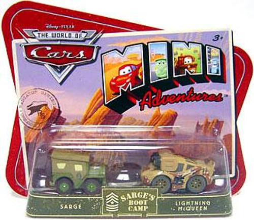 Disney Cars The World of Cars Mini Adventures Sarge's Boot Camp Plastic Car 2-Pack [Sarge & McQueen]