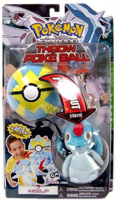 Pokemon Diamond & Pearl DP Series 3 Azelf Throw Poke Ball Plush