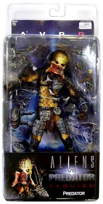 NECA Alien vs Predator AVP Requiem Series 3 Predator Action Figure [Open Mouth Wolf]