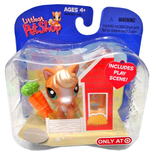 Littlest Pet Shop Horse Exclusive Figure [Barn with Carrots]