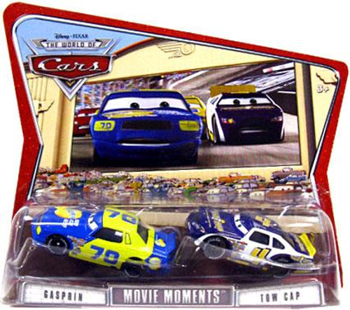 Disney Cars The World of Cars Movie Moments Gasprin & Tow Cap Diecast Car 2-Pack