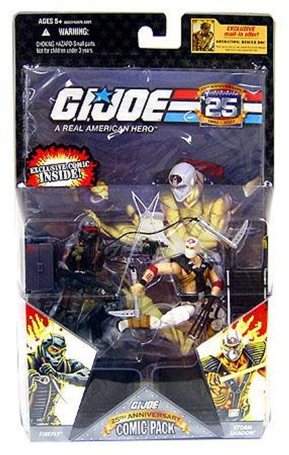 GI Joe 25th Anniversary Wave 4 Comic Pack Storm Shadow vs. Firefly Action Figure 2-Pack