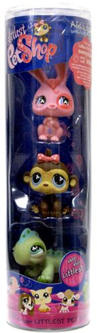 Littlest Pet Shop Bunny, Monkey & Iguana Figure 3-Pack