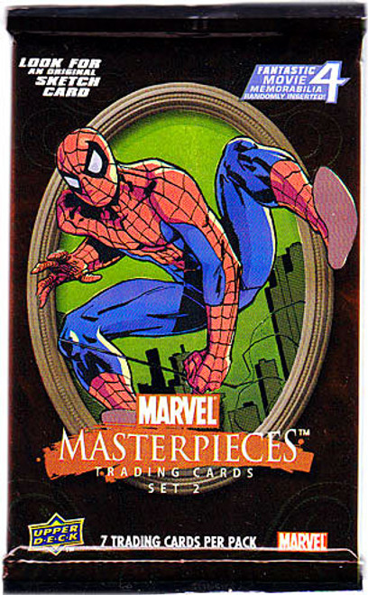 Skybox Marvel Masterpieces Series 2 Trading Card Pack