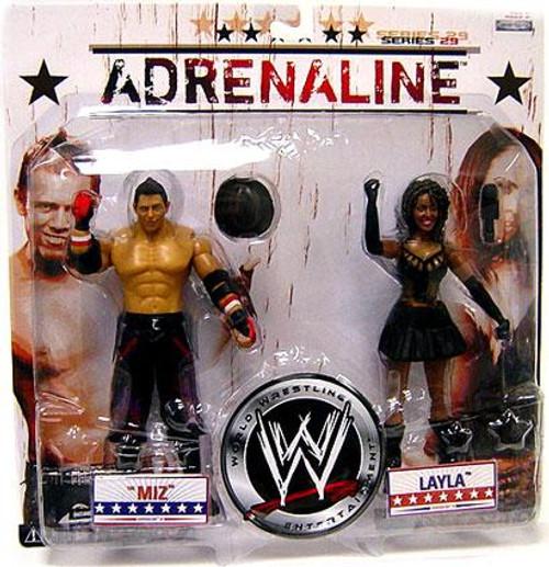 WWE Wrestling Adrenaline Series 29 Miz & Layla Action Figure 2-Pack