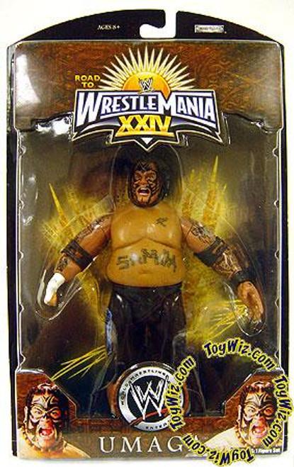 WWE Wrestling Road to WrestleMania 24 Series 1 Umaga Exclusive Action Figure