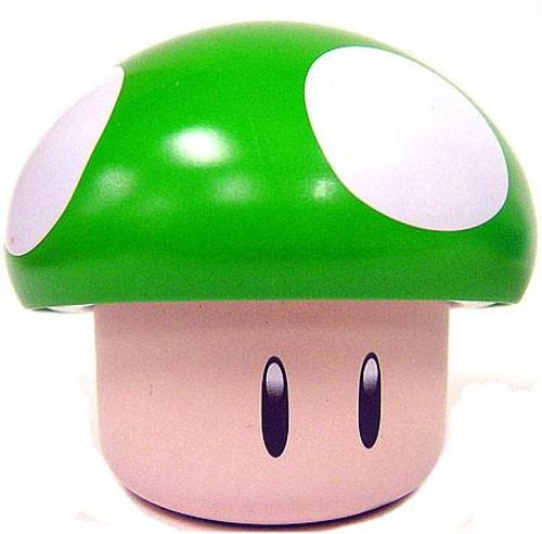 New Super Mario Bros Wii Green Mushroom Candy Tin [Apple Sours]