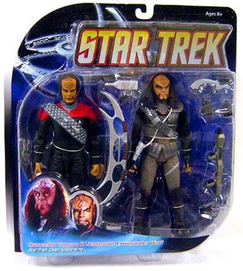 Star Trek Deep Space 9 Worf & Gowron Action Figure 2-Pack
