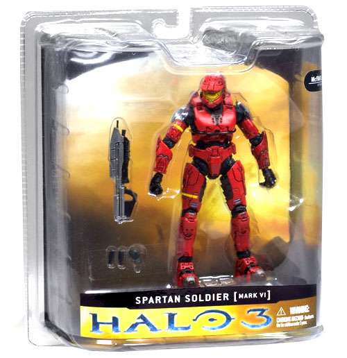 McFarlane Toys Halo 3 Series 1 Spartan Soldier MARK VI Action Figure [Red]
