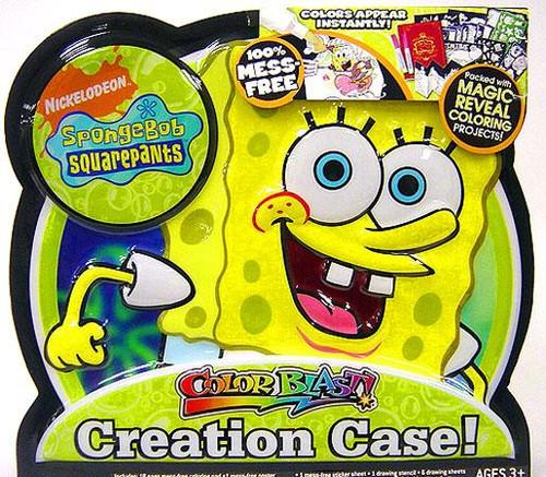 Spongebob Squarepants Color Blast Creation Case Activity Set