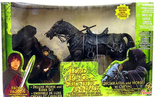 The Lord of the Rings The Fellowship of the Ring Frodo & Ringwraith with Horse Action Figure 3-Pack