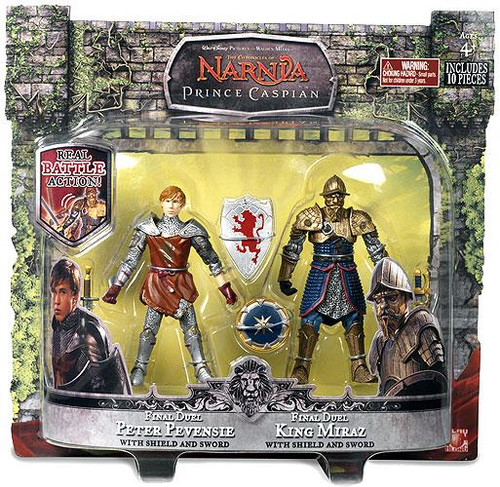 The Chronicles of Narnia Prince Caspian Final Duel Peter Pevensie & King Miraz Action Figure 2-Pack