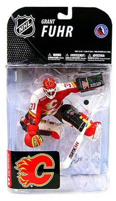 McFarlane Toys NHL Calgary Flames Sports Picks Series 19 Grant Fuhr Action Figure [Red Jersey]
