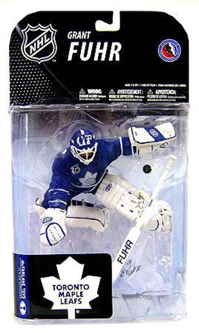 McFarlane Toys NHL Toronto Maple Leafs Sports Picks Series 19 Grant Fuhr Action Figure [Blue Jersey]