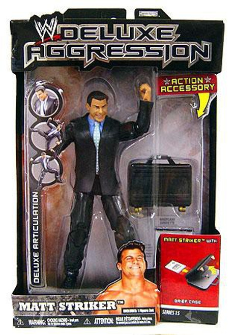WWE Wrestling Deluxe Aggression Series 15 Matt Striker Action Figure