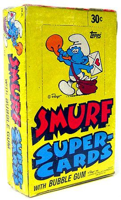 1982 The Smurfs Trading Card Box
