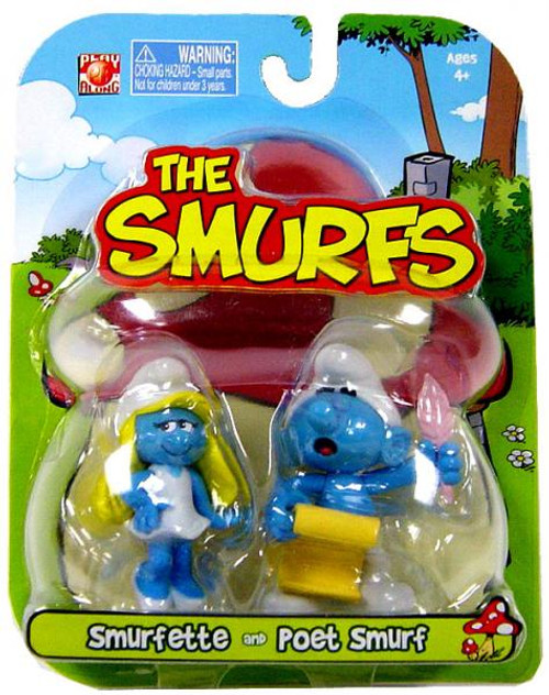 The Smurfs Articulated Smurfette & Poet Smurf 2-Inch Mini Figure 2-Pack