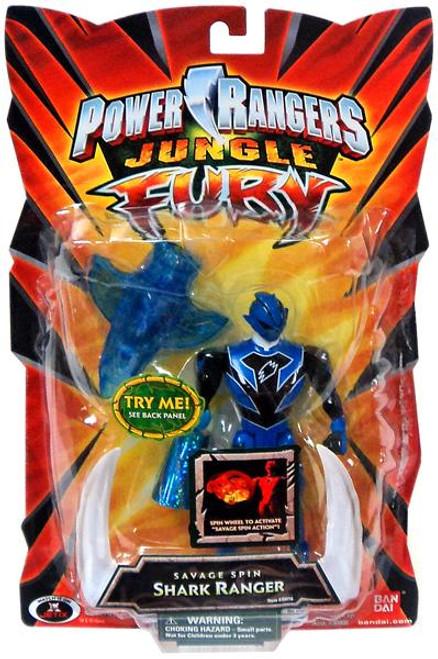 Power Rangers Jungle Fury Savage Spin Shark Ranger Action Figure