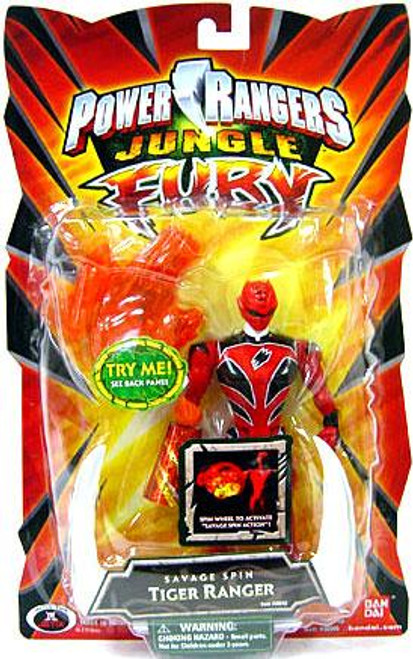 Power Rangers Jungle Fury Savage Spin Tiger Ranger Action Figure