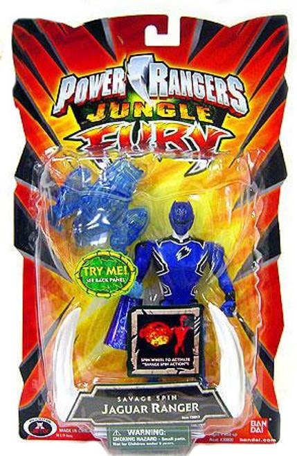 Power Rangers Jungle Fury Savage Spin Jaguar Ranger Action Figure