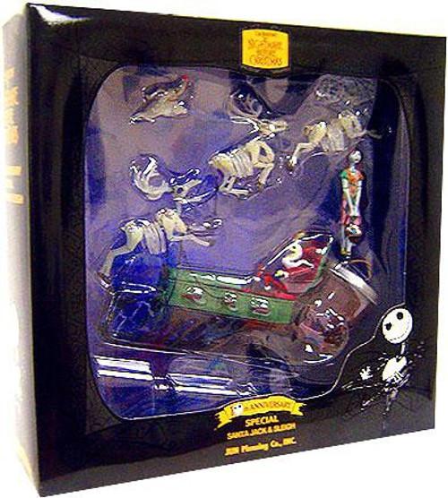 NECA The Nightmare Before Christmas 10th Anniversary Santa Jack & Sleigh Action Figure