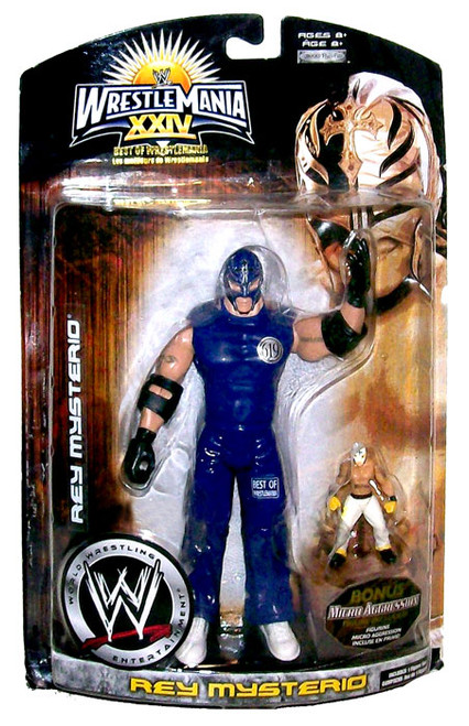 WWE Wrestling WrestleMania 24 Best Of Series 1 Rey Mysterio Exclusive Action Figure