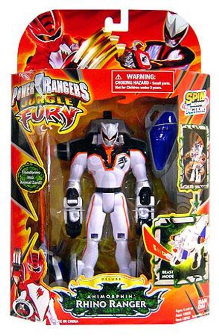 Power Rangers Jungle Fury Deluxe Animorphin Rhino Ranger Action Figure