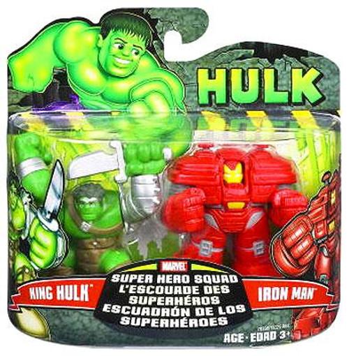 Marvel Super Hero Squad Hulk Movie Series 1 King Hulk & Iron Man Action Figure 2-Pack
