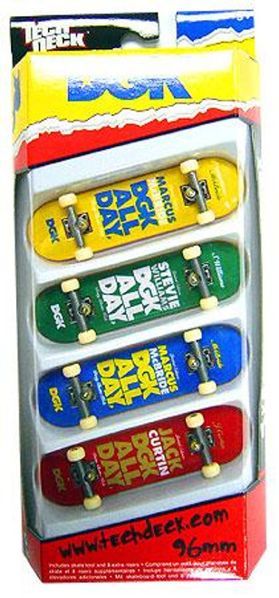 Tech Deck DGK 96mm Mini Skateboard 4-Pack [Marcus McBride, Stevie Williams, McBride & Jack Curtin]