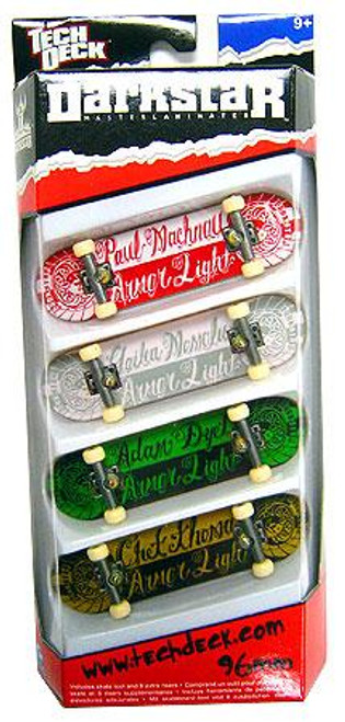 Tech Deck Darkstar 96mm Mini Skateboard 4-Pack [Random Boards!]