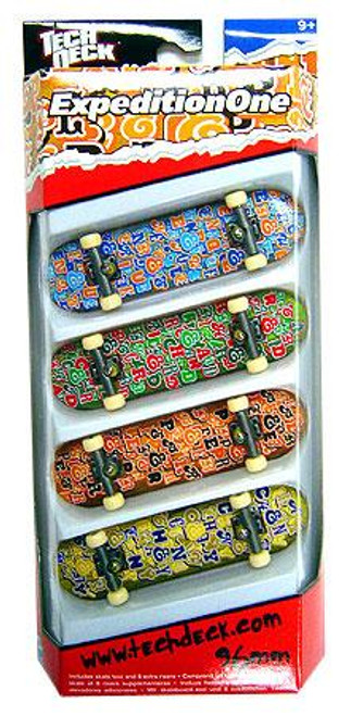 Tech Deck ExpeditionOne 96mm Mini Skateboard 4-Pack [Lorenzo, Angelides, Pepper & Chaney]