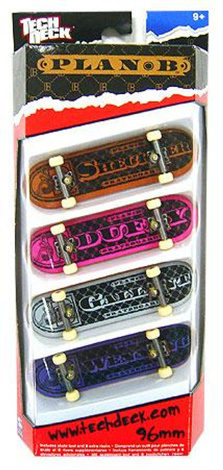 Tech Deck Plan B 96mm Mini Skateboard 4-Pack [Ryan Sheckler, Duffy, Gallant & Wenning]