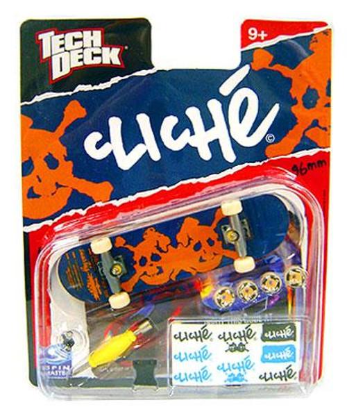 Tech Deck Cliche 96mm Mini Skateboard [Orange Skull]