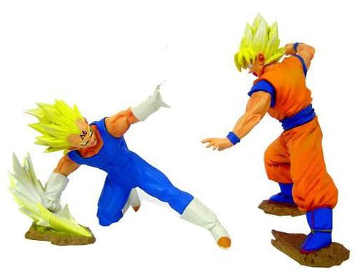 Dragon Ball Z Super Saiyan Vegeta 4 & Super Saiyan Son Goku 5-Inch PVC Statues