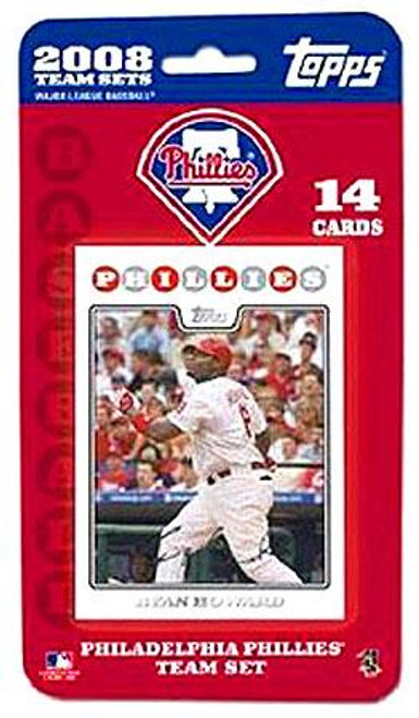 MLB 2008 Topps Baseball Cards Philadelphia Phillies Team Set