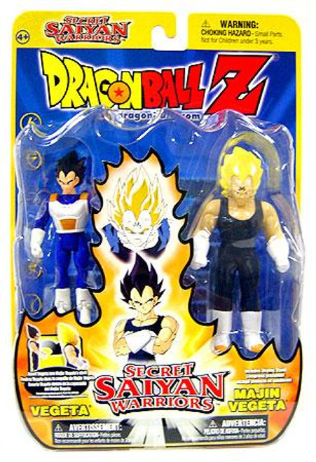 Dragon Ball Z Secret Saiyan Warriors Vegeta & Majin Vegeta Action Figure 2-Pack