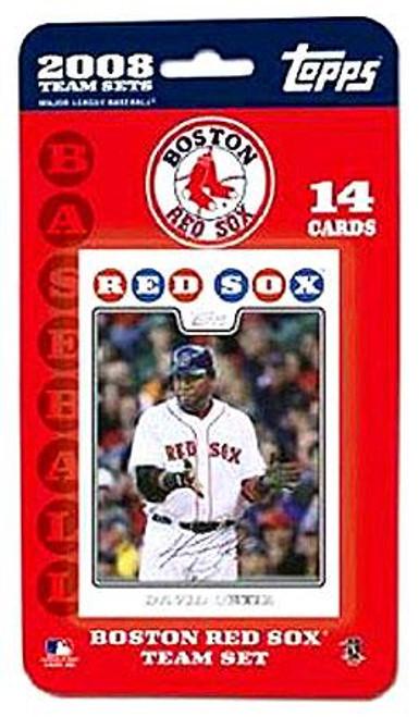 MLB 2008 Topps Baseball Cards Boston Red Sox Team Set