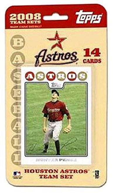 MLB 2008 Topps Baseball Cards Houston Astros Team Set