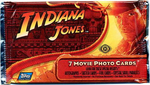 Indiana Jones Kingdom of the Crystal Skull Trading Card Pack
