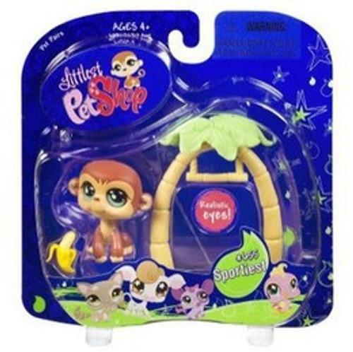 Littlest Pet Shop Pet Pairs Monkey Figure [Swing & Banana]