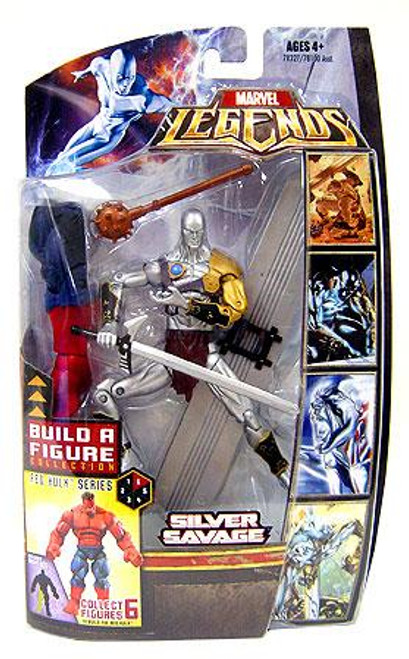 Marvel Legends Red Hulk Build a Figure Silver Savage Exclusive Action Figure