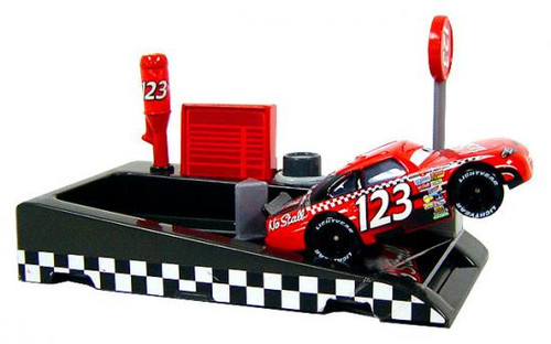 Disney Cars Pit Row Race-Off No Stall No. 123 Diecast Car [Includes Launcher]