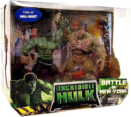 The Incredible Hulk Movie Battle In New York Exclusive Action Figure 2-Pack
