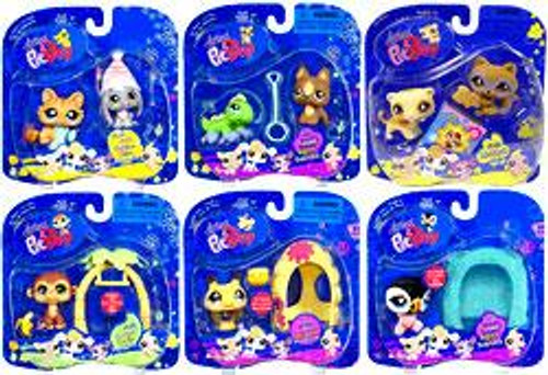 Littlest Pet Shop Pet Pairs Set of 6 Figures [Bumblebee with Hive]